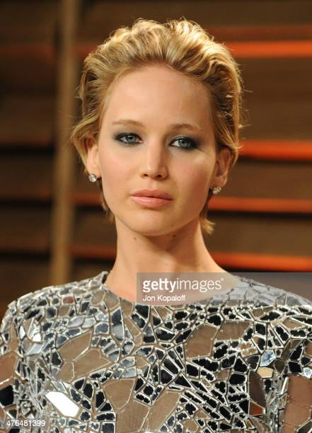 Jennifer Lawrence attends the 2014 Vanity Fair Oscar Party hosted by Graydon Carter on March 2 2014 in West Hollywood California