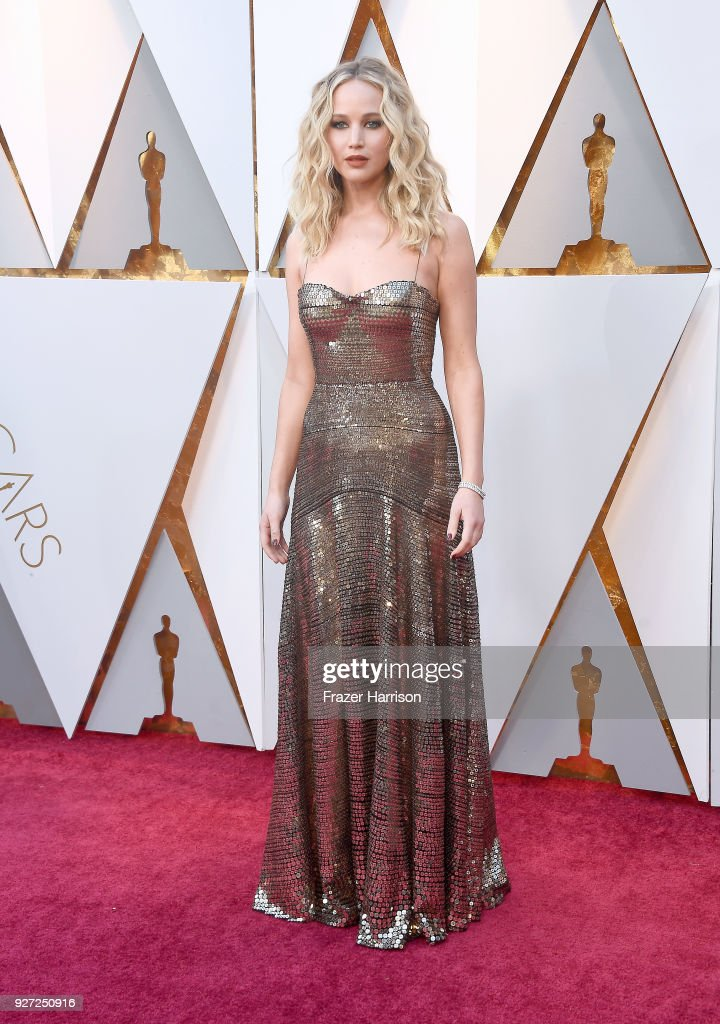 Jennifer Lawrence attends the 90th Annual Academy Awards at Hollywood & Highland Center on March 4, 2018 in Hollywood, California.
