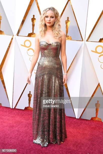Jennifer Lawrence attends the 90th Annual Academy Awards at Hollywood Highland Center on March 4 2018 in Hollywood California