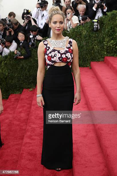 Jennifer Lawrence attends the China Through The Looking Glass Costume Institute Benefit Gala at the Metropolitan Museum of Art on May 4 2015 in New...