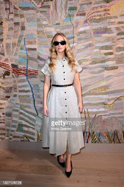 Jennifer Lawrence attends the Christian Dior Haute Couture Fall/Winter 2021/2022 show as part of Paris Fashion Week on July 05, 2021 in Paris, France.