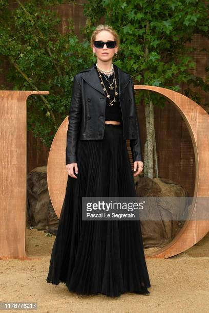 Jennifer Lawrence attends the Christian Dior Womenswear Spring/Summer 2020 show as part of Paris Fashion Week on September 24 2019 in Paris France