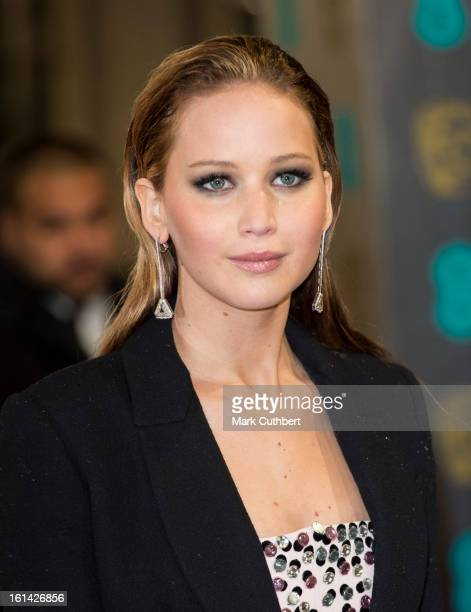 Jennifer Lawrence attends the EE British Academy Film Awards at The Royal Opera House on February 10 2013 in London England