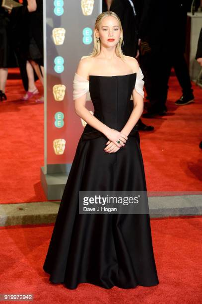 Jennifer Lawrence attends the EE British Academy Film Awards held at Royal Albert Hall on February 18 2018 in London England