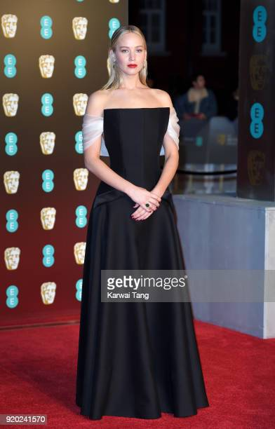 Jennifer Lawrence attends the EE British Academy Film Awards held at the Royal Albert Hall on February 18 2018 in London England