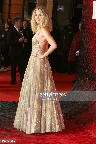 Jennifer Lawrence attends the European Premeire of 'Red Sparrow' at Vue West End on February 19 2018 in London England