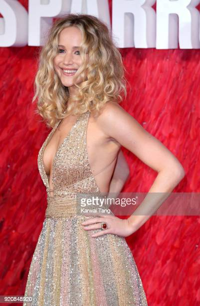 Jennifer Lawrence attends the European Premiere of 'Red Sparrow' at the Vue West End on February 19 2018 in London England