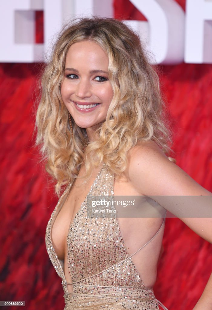 Jennifer Lawrence attends the European Premiere of 'Red Sparrow' at the Vue West End on February 19, 2018 in London, England.