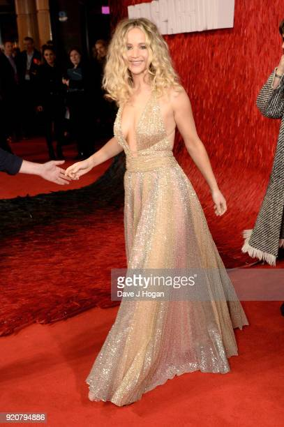 Jennifer Lawrence attends the European Premiere of 'Red Sparrow' at Vue West End on February 19 2018 in London England