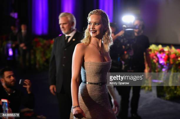 Jennifer Lawrence attends the French Premiere of 'mother' at Cinema UGC Normandie on September 7 2017 in Paris France