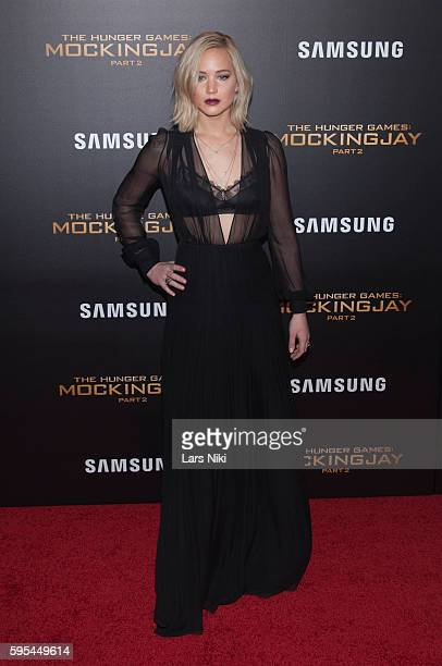 Jennifer Lawrence attends The Hunger Games Mockingjay Part 2 New York Premiere AMC Loews Lincoln Square 13 theater in New York City © LAN