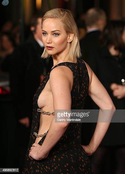 Jennifer Lawrence attends 'The Hunger Games Mockingjay Part 2' UK premiere at Odeon Leicester Square on November 5 2015 in London England