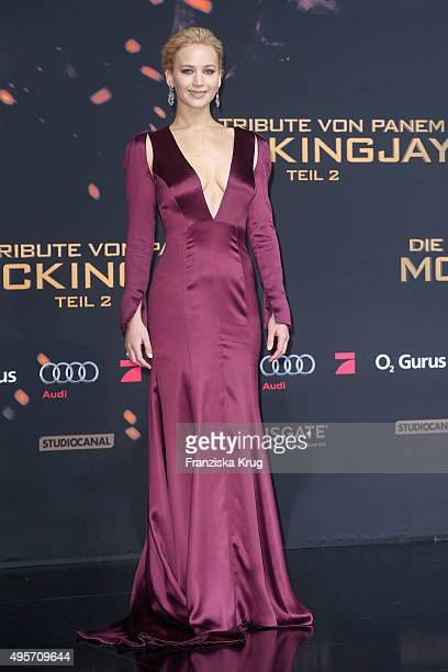 Jennifer Lawrence attends The Hunger Games Mockingjay Part 2 world premiere on November 04 2015 in Berlin Germany