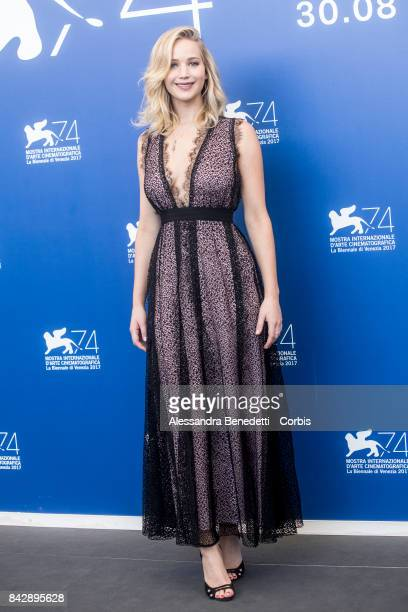 Jennifer Lawrence attends the 'mother' photocall during the 74th Venice Film Festival at Sala Casino on September 5 2017 in Venice Italy