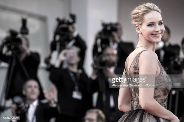 Jennifer Lawrence attends the 'mother' screening during the 74th Venice Film Festival at Sala Grande on September 5 2017 in Venice Italy