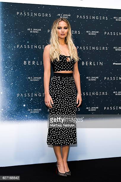 Jennifer Lawrence attends the 'Passengers' Berlin Photocall at Hotel Adlon on December 2, 2016 in Berlin, Germany.