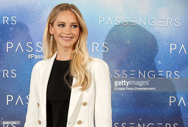 Jennifer Lawrence attends the 'Passengers' photocall at Hotel Villa Magna on November 30 2016 in Madrid Spain