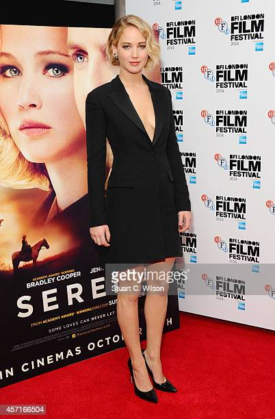 Jennifer Lawrence attends the premiere for Serena during the 58th BFI London Film Festival at Vue West End on October 13 2014 in London England