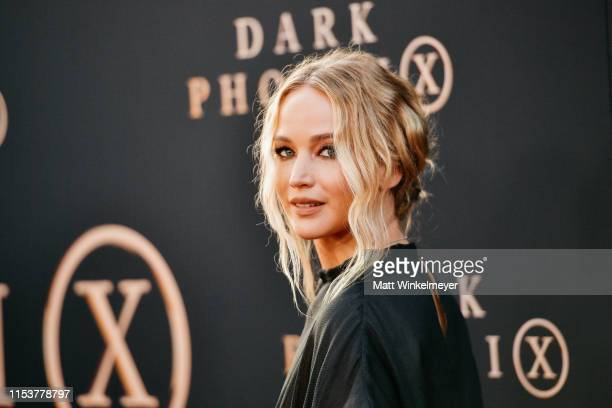 "Jennifer Lawrence attends the premiere of 20th Century Fox's ""Dark Phoenix"" at TCL Chinese Theatre on June 04, 2019 in Hollywood, California."
