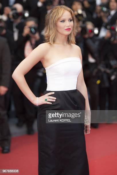 Jennifer Lawrence attends the Premiere of 'Jimmy P ' at The 66th Annual Cannes Film Festival on May 18 2013 in Cannes France