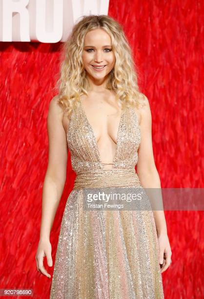 Jennifer Lawrence attends the Red Sparrow European premiere at the Vue West End on February 19 2018 in London England