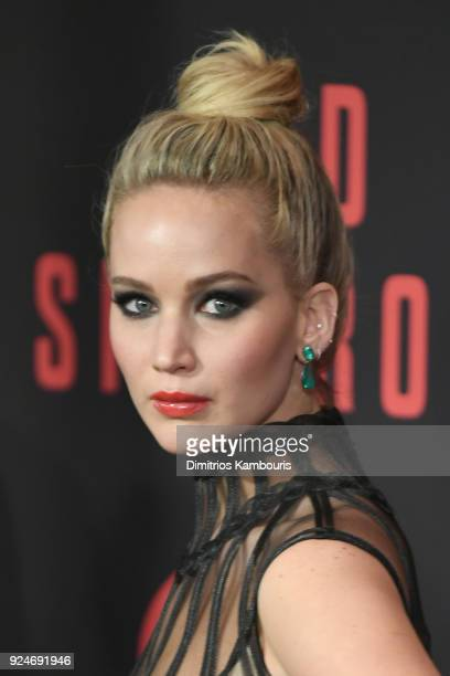 Jennifer Lawrence attends the Red Sparrow New York Premiere at Alice Tully Hall at Lincoln Center on February 26 2018 in New York City
