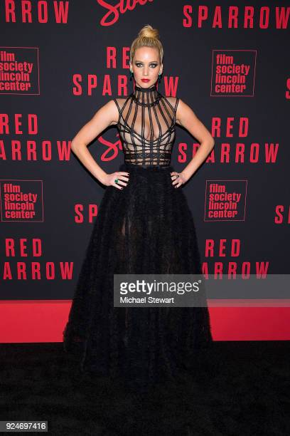Jennifer Lawrence attends the 'Red Sparrow' New York premiere at Alice Tully Hall at Lincoln Center on February 26 2018 in New York City