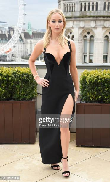Jennifer Lawrence attends the Red Sparrow photocall at Corinthia London on February 20 2018 in London England