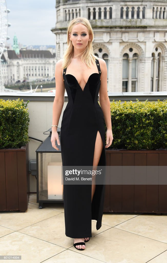 Jennifer Lawrence attends the 'Red Sparrow' photocall at Corinthia London on February 20, 2018 in London, England.