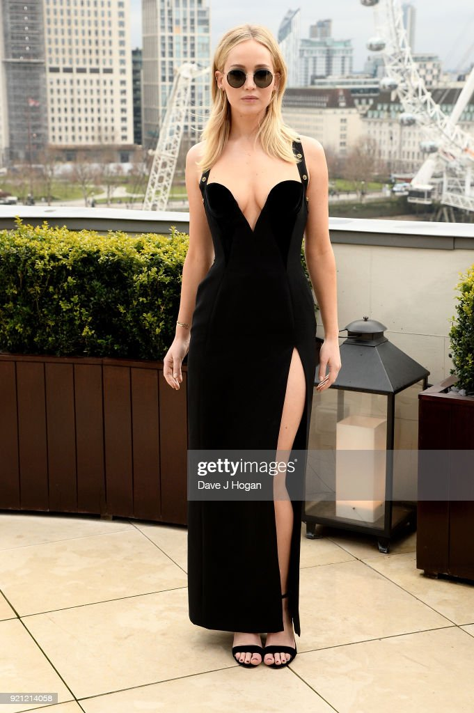 Jennifer Lawrence attends the 'Red Sparrow' photocall at The Corinthia Hotel on February 20, 2018 in London, England.