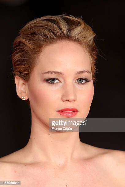 Jennifer Lawrence attends the 'The Hunger Games Catching Fire' Premiere during The 8th Rome Film Festival at Auditorium Parco Della Musica on...