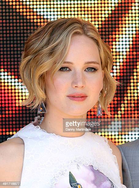 Jennifer Lawrence attends the The Hunger Games Mockingjay Part 1 Photocall at the 67th Annual Cannes Film Festival on May 17 2014 in Cannes France