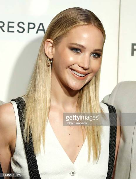 Jennifer Lawrence attends Tribeca Talks Directors Series with David O Russell and Jennifer Lawrence during the 2019 Tribeca Film Festival at BMCC...