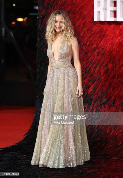 Jennifer Lawrence attneds the European Premeire of 'Red Sparrow' at Vue West End on February 19 2018 in London England