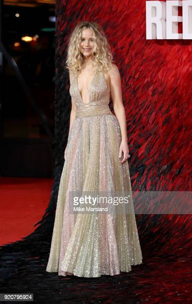 Jennifer Lawrence attneds the European Premiere of 'Red Sparrow' at Vue West End on February 19 2018 in London England