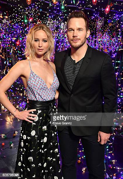 """Jennifer Lawrence, Chris Pratt at the Photo Call For Columbia Pictures' """"Passengers"""" at Four Seasons Hotel Los Angeles at Beverly Hills on December..."""