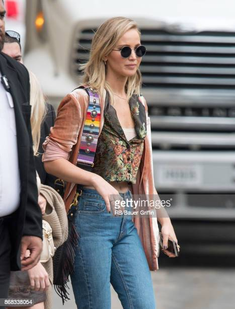 Jennifer Lawrence is seen at 'Jimmy Kimmel Live' on October 30 2017 in Los Angeles California