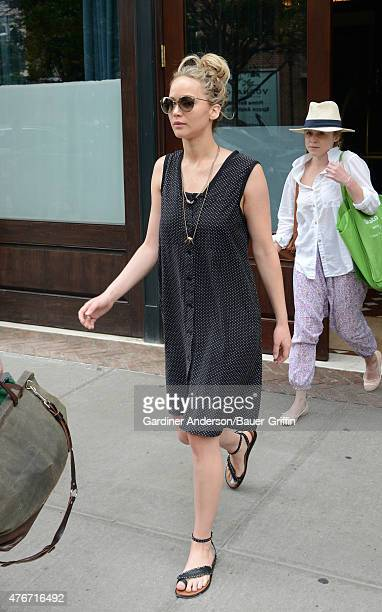 Jennifer Lawrence is seen in New York City on June 11 2015 in New York City