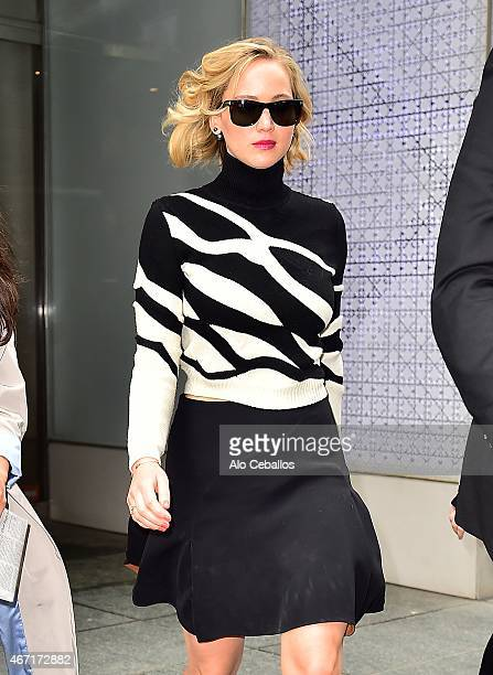 Jennifer Lawrence is seen on March 21, 2015 in New York City.