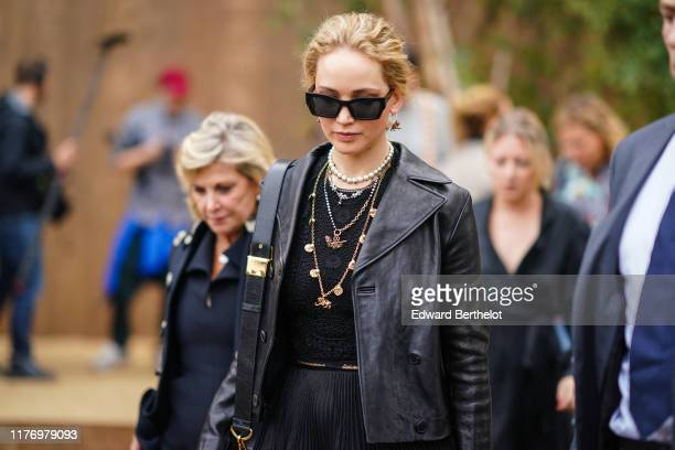 Jennifer Lawrence is seen outside Dior during Paris Fashion Week Womenswear Spring Summer 2020 on September 24 2019 in Paris France