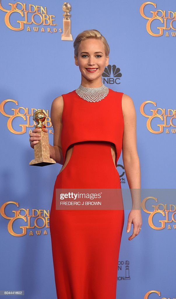 US-ENTERTAINMENT-GOLDEN-GLOBE-PRESS-ROOM : News Photo