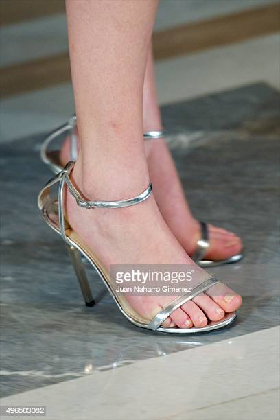 Jennifer Lawrence shoes detail attends 'The Hunger Games Sinsajo Part 2' photocall at Villa Magna Hotel on November 10 2015 in Madrid Spain