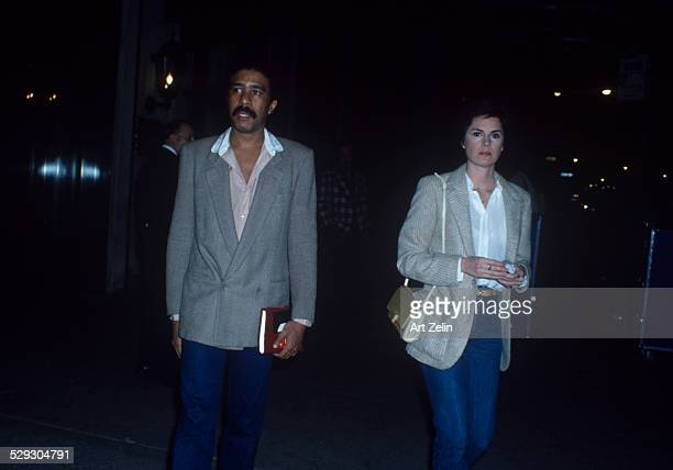 Jennifer Lee and Richard Pryor walking together circa 1970 New York