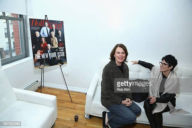 Jennifer Lee Pryor poses with guest at the Producers Reception during the 2013 Tribeca Film Festival April 22 2013 in New York City