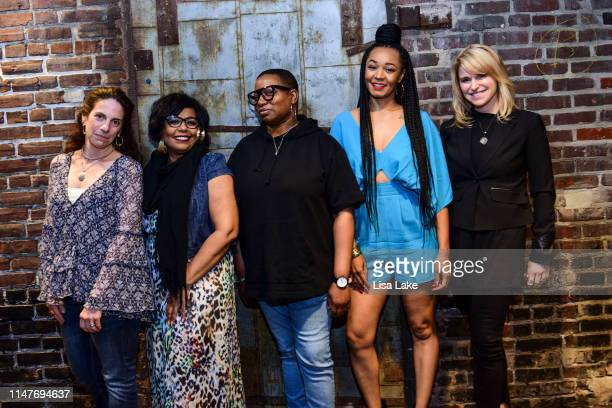 Jennifer Leff Carol Riddick Antonia 'Bahamadia' Reed Natalie Imani and Lauren Hart pose for a photo during the MusiCares Vocal Health Event hosted by...
