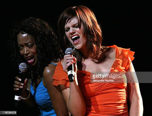 Jennifer Leigh Warren and Samantha Shelton during 2007 What a Pair Benefiting the John Wayne Cancer Institute Show at The Orpheum Theatre in Los...