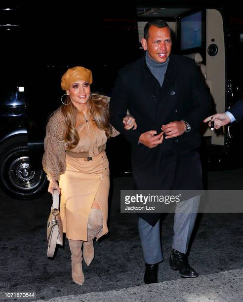 Jennifer Lopez and Alex Rodriguez are seen on December 11 2018 in the Bronx borough of New York City