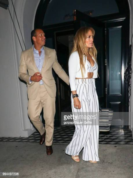 Jennifer Lopez and Alex Rodriguez are seen on July 08 2018 in Los Angeles California