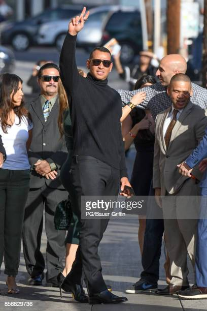 Jennifer Lopez and Alex Rodriguez are seen on October 02 2017 in Los Angeles California