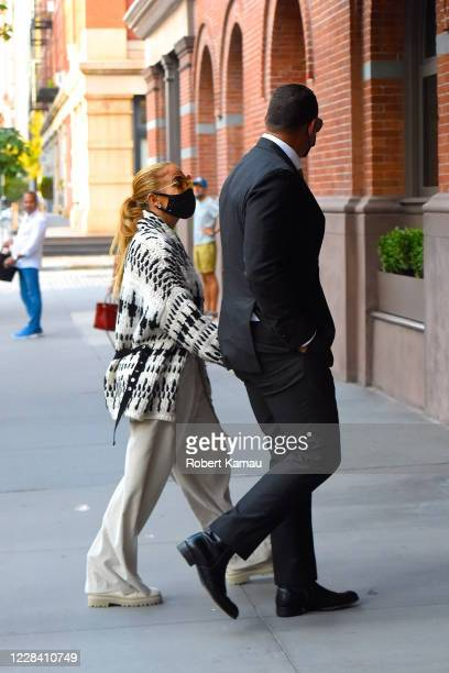 Jennifer Lopez and Alex Rodriguez are seen on September 8 2020 in New York City